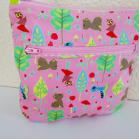 Double Zipped  Makeup Bag - Two Compartments