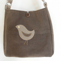 Upcycled Wool and Cashmere Bag