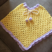 Girl's Crocheted Poncho for a 6 month old