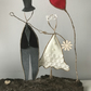 Wedding Present Cake Topper Married Wire Sculpture gift Quirky handmade Wedding
