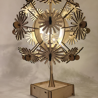 Hand crafted and laser cut Daisy lamp with micro LEDS