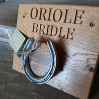 Personalised Horse Bridle Rack (single)