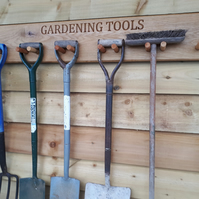 Oak Handmade Personalised Garden Tool Storage
