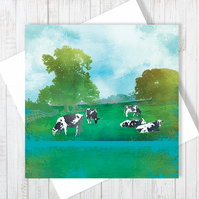 Summer Grazing Blank Greetings Card - Free UK Delivery