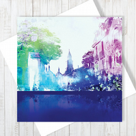 Rue Des Drapeaux Blank Greetings Card - Free UK Delivery