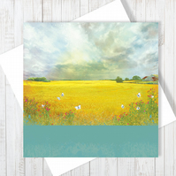 The Rain Clouds Are Coming Blank Greetings Card