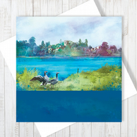Ellesmere, Shropshire Blank Greetings Card - Free UK Delivery