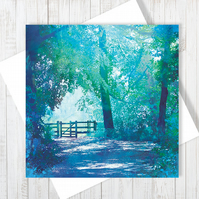 The Kissing Gate Blank Greetings Card