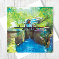 Navigating Through Gates Blank Greetings Card - Free UK Delivery