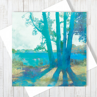 Planted By Deep Waters Blank Greetings Card