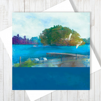 Moscow Island, Ellesmere Blank Greetings Card - Free UK Delivery