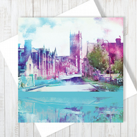 Whitchurch, Shropshire Blank Greetings Card