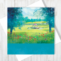 Jubilee Summer Blank Greetings Card