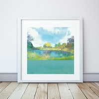 Contemplation Giclee Mounted Print