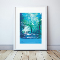 The Kissing Gate Giclee Mounted Print