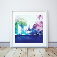 Rue Des Drapeaux Giclee Mounted Print