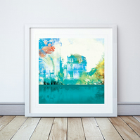 Place De L'eglise Giclee Mounted Print