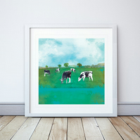 Green Pastures Giclee Mounted Print