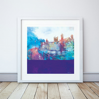 City Walls, Chester Giclee Mounted Print