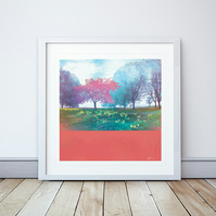 Time To Blossom Giclee Mounted Print