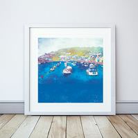 Harbour Rest Giclee Mounted Print