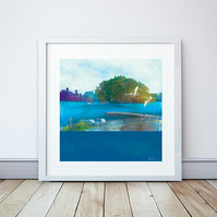 Moscow Island Giclee Mounted Print