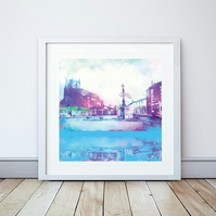 Audlem Cheshire Giclee Mounted Print
