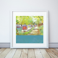 A Morning Walk Giclee Mounted Print