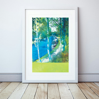 Along The Towpath II Giclee Mounted Print