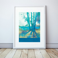 Planted By Deep Waters Giclee Mounted Print