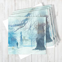 Pack Of 4 Heading Home Blank Greetings Cards
