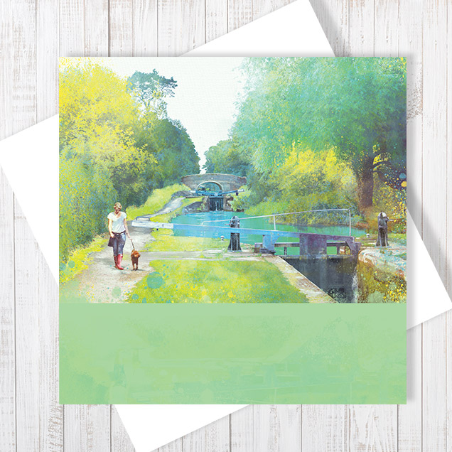 The Path Of Summer Blank Greetings Card
