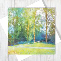 The Bridge Blank Greetings Card
