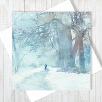 Winter Sojourn Blank Greetings Card