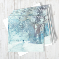 Pack Of 4 Winter Sojourn Blank Greetings Cards
