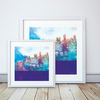 City Walls, Chester Giclee Mounted Print - 2 sizes available