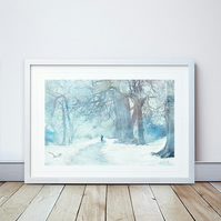Winter Sojourn Giclee Mounted Print