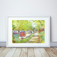 A Morning Walk II Giclee Mounted Print