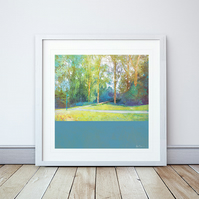 The Bridge Giclee Mounted Print