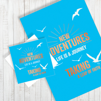 New Adventures Foil A4 Poster & Card set - Free UK Delivery
