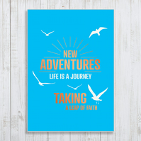 New Adventures Copper Foil A4 Poster