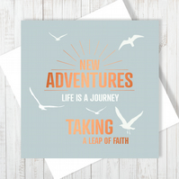 New Adventures Card With Copper Foiling