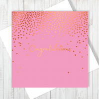 Congratulations Card With Copper Foiling