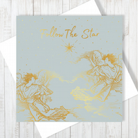 The Christmas Star Card With Gold Foiling
