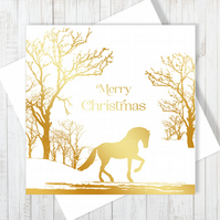 Majesty Christmas Card With Gold Foiling