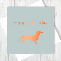 Happy Birthday Card With Copper Foiling