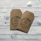 Personalised Wedding Favour Seed Packet Envelopes x 15 Brown Kraft Card Style 2