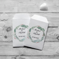 Personalised Wedding Favour Seed Packet Envelopes x 15 White Card Style 2