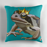 Teal Frog Prince Cushion Cover Little Prince Nursery Decor