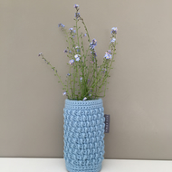 Crochet Vase - Light Blue